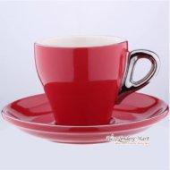 Tách Cappuccino Bằng Sứ Yami 180CC Màu Đỏ