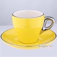 Tách Cappuccino Bằng Sứ Yami 180CC Màu Vàng