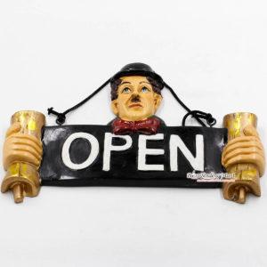 Bảng Gỗ Trang Trí Chữ Open 01