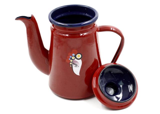 Bình Đun Nước Coffee Drip Kettle 1000cc Màu Đỏ 01