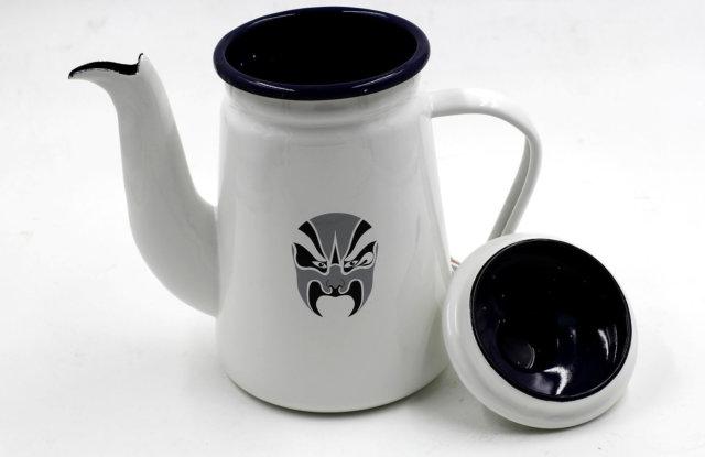 Bình Đun Nước Coffee Drip Kettle 1000cc Màu Trắng 01