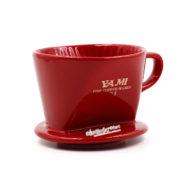 Phễu Lọc Cafe Màu Đỏ- Coffee Drip Ceramic 1-2 Cup-02