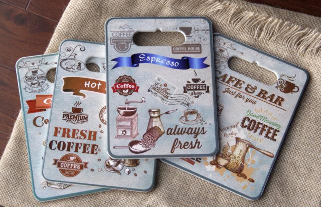 Tranh Sứ Hình Chữ Nhật Coffee Latte 03
