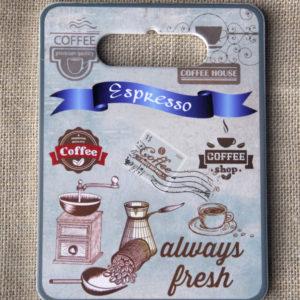 Tranh Sứ Hình Chữ Nhật Espresso