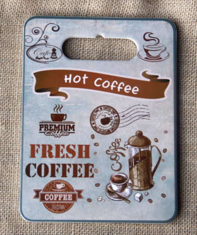 Tranh Sứ Hình Chữ Nhật Hot Coffee
