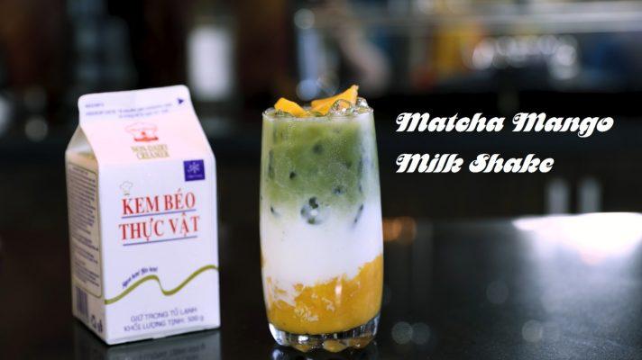 Hướng Dẫn Pha Chế Matcha Mango Milk Shake