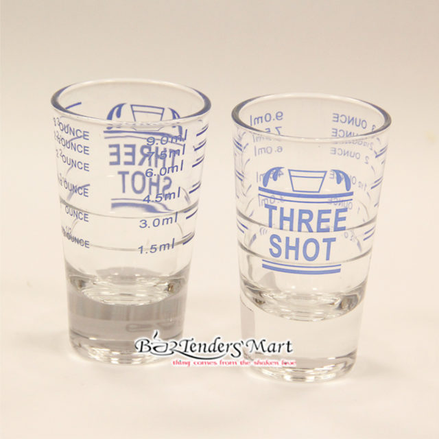 Espresso Three Shot Glasses