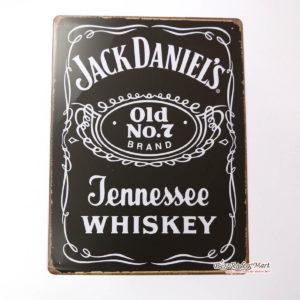 Tranh inox Hình Logo Jack Daniel's Whiskey