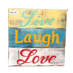 Bảng Gỗ Chữ Live Laugh Love