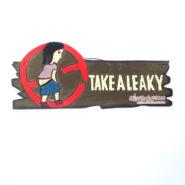 Bảng Gỗ Chữ Take A Leaky