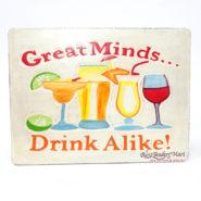 Bảng Gỗ Hình Ly Cocktail