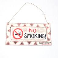 Bảng Gỗ No Smoking
