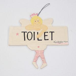 Bảng Gỗ Toilet Màu Vàng Nhạt