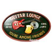 Bảng Gỗ Trang Trí Guitar Lounge