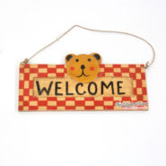 Bảng Gỗ Welcome Hình Gấu