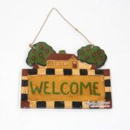 Bảng Gỗ Welcome Hình Ngôi Nhà