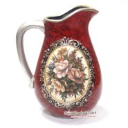 Bình Hoa Vintage Cổ Điển Màu Đỏ TTA10030