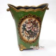 Bình Hoa Vintage Cổ Điển Màu Xanh TTA12132