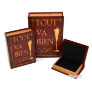 Bộ Sách Gỗ 3 Cuốn Tout Va Bien Trang Trí