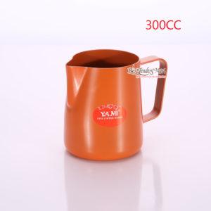 Ca Đánh Sữa YaMi 300ml Màu Cam - Teflon milk pitcher