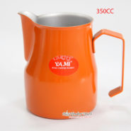 Ca Đánh Sữa YaMi 350ml Màu Cam – Teflon Milk Jug