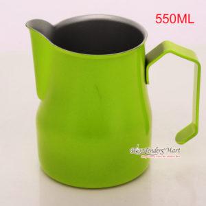 Ca Đánh Sữa YaMi 550ml Màu Xanh – Teflon Milk Jug