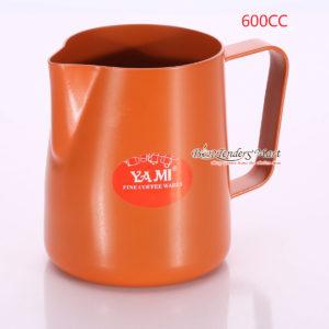 Ca Đánh Sữa YaMi 600ml Màu Cam - Teflon milk pitcher