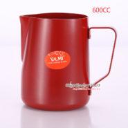 Ca Đánh Sữa YaMi 600ml Màu Đỏ - Teflon milk pitcher