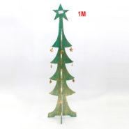 Cây Thông Noel Gỗ 1 Mét Màu Xanh