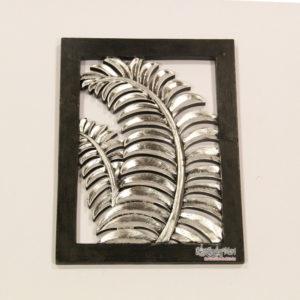 Khung decor trang trí lá màu bạc