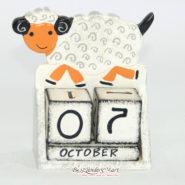 Lịch Gỗ Hình Chú Cừu
