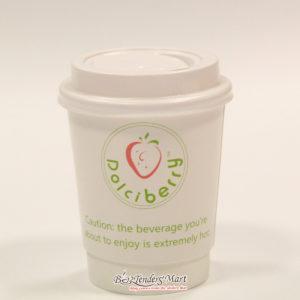 Ly Cafe Nhựa Màu Trắng DolciBerry Kèm Nắp