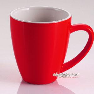 Ly Cafe Latte Sứ 350cc YAMI Màu Đỏ