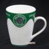 Ly Sứ Enjoying Coffee Màu Xanh Có Tay Cầm LS323892