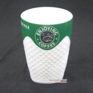 Ly Sứ Enjoying Coffee Màu Xanh LS343854