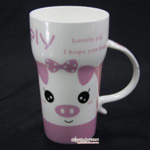 Ly Sứ Lovely Pig Màu Hồng LS270515