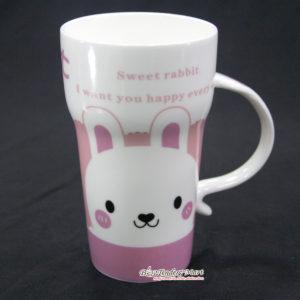 Ly Sứ Sweet Rabbit Màu Hồng LS270515