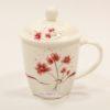 ly trà sứ hoa tím có nắp
