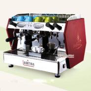 Máy Pha Cafe Ý Ladetina 2 Group LE-2 Màu Đỏ