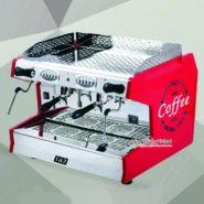 Máy Pha Cafe Espresso T&Z 2 Group Màu Đỏ