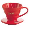 Phễu Lọc Cafe Yami V02 Gợn Sóng Màu Đỏ - Coffee Dripper Cup V02