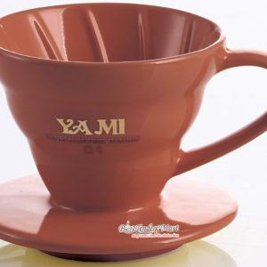 Phễu Lọc Cafe Yami V02 Gợn Sóng Màu Nâu - Coffee Dripper Cup V02