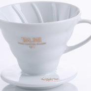 Phễu Lọc Cafe Yami V02 Gợn Sóng Màu Trắng - Coffee Dripper Cup V02