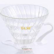 Phễu Lọc Coffee VO2 Yami Thủy Tinh Đế Nhựa Màu Trắng
