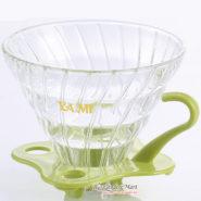 Phễu Lọc Coffee VO2 Yami Thủy Tinh Đế Nhựa Màu Xanh