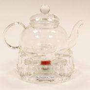 Set ấm trà thủy tinh và bếp nến
