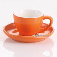 tách espresso yami wbc màu cam