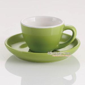 tách espresso yami wbc màu xanh lá