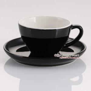 tách sứ cappuccino yami màu đen