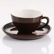 tách sứ cappuccino yami màu nâu